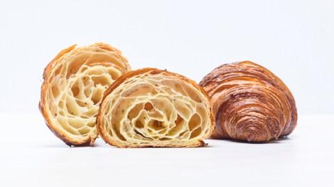 multigrain croissant layers
