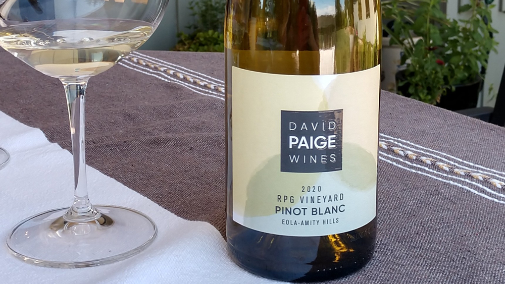 David Paige Wines 2020 RPG Vineyard Pinot Blanc Eola–Amity Hills