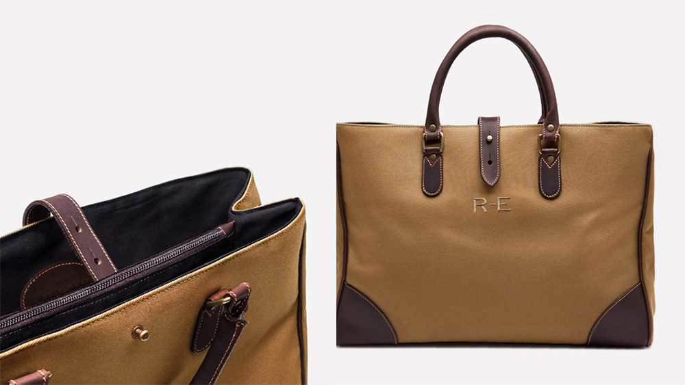 Details of Ettinger's Picadilly tote.