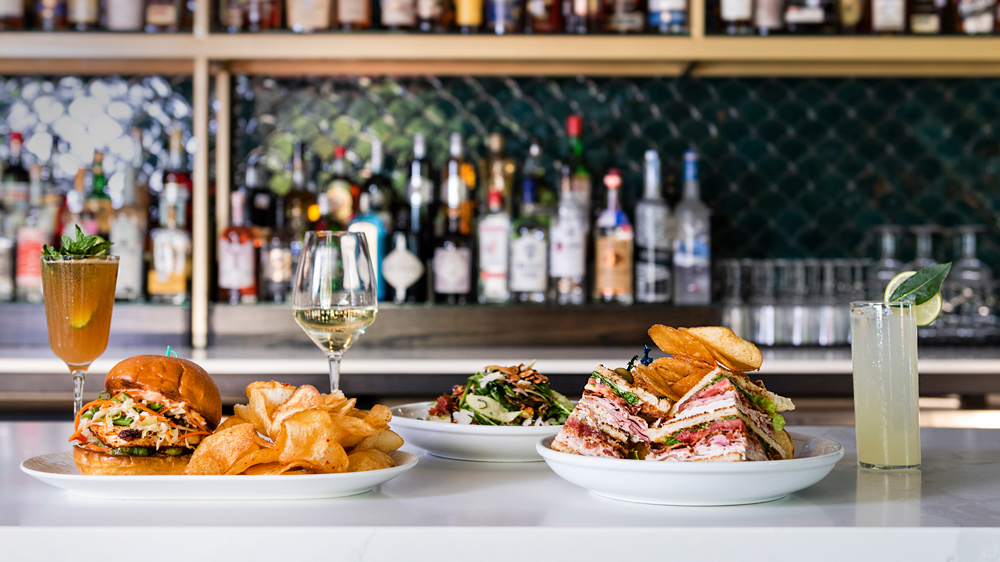 bar with club sandwich