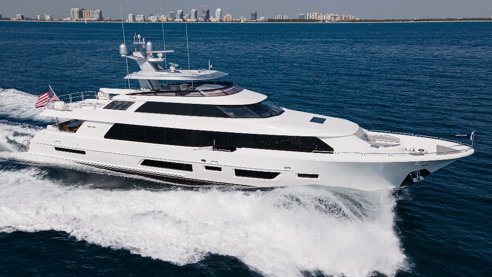 The pilothouse incorporates a new, more open design, with features like fish patterns on a lucite wall.