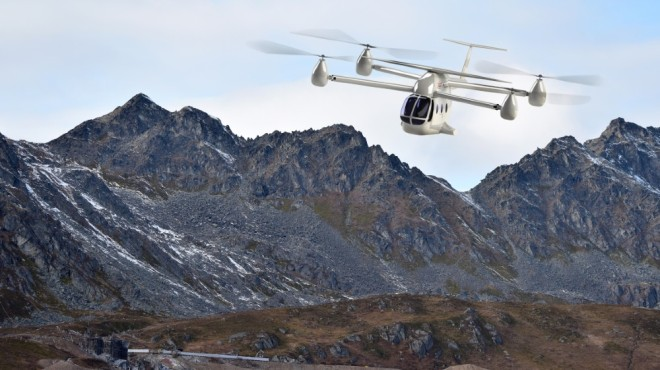 The eTransporter is a new eVTOL design that will travel through mountains and other remote areas.