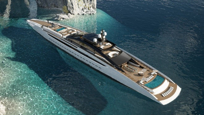 Sunrise is the world's largest open yacht, measuring 433 feet in length