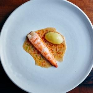 Spot prawn and potatoes meadowood