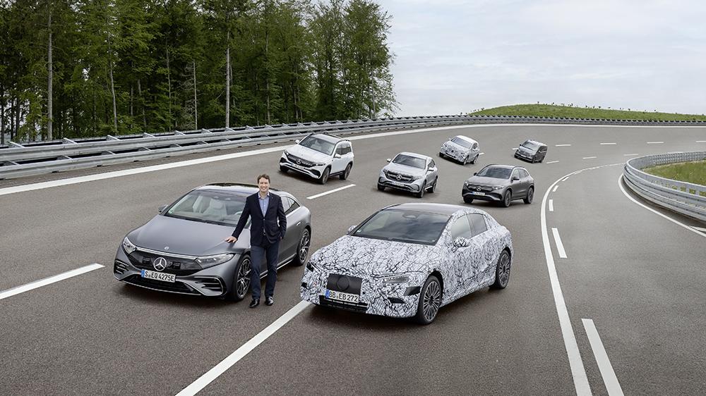 The Mercedes-EQ Family with Chairman Ola Källenius