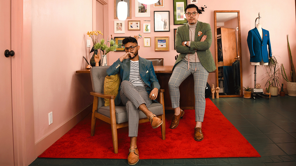 The founders of Pocket Square Clothing, Rodolfo Ramirez and Andrew Cheung.