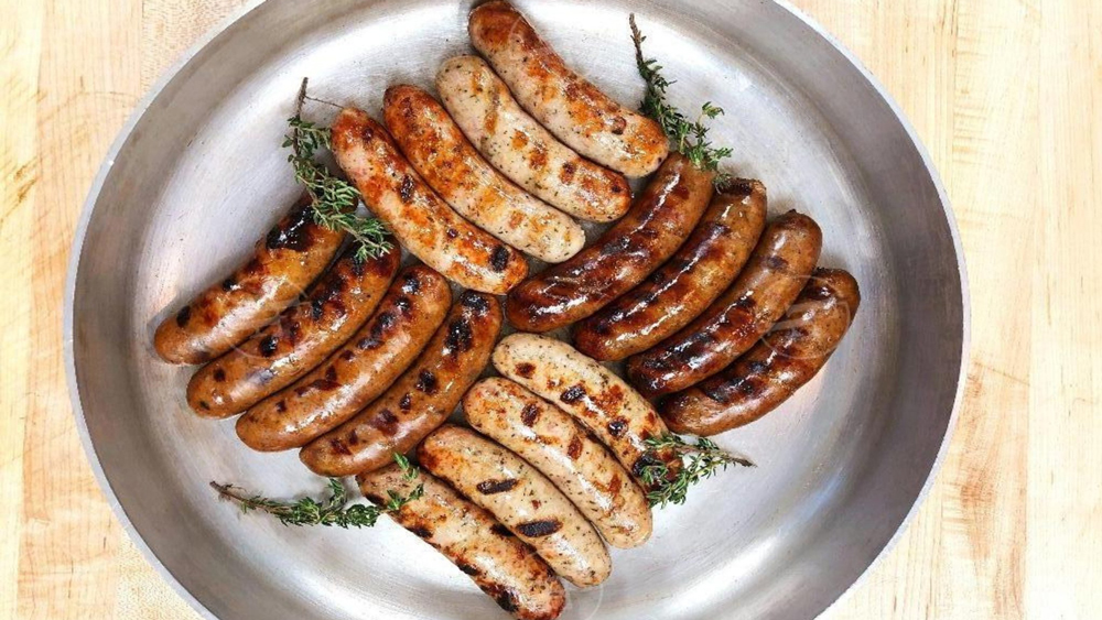 sausages grilled on a plate