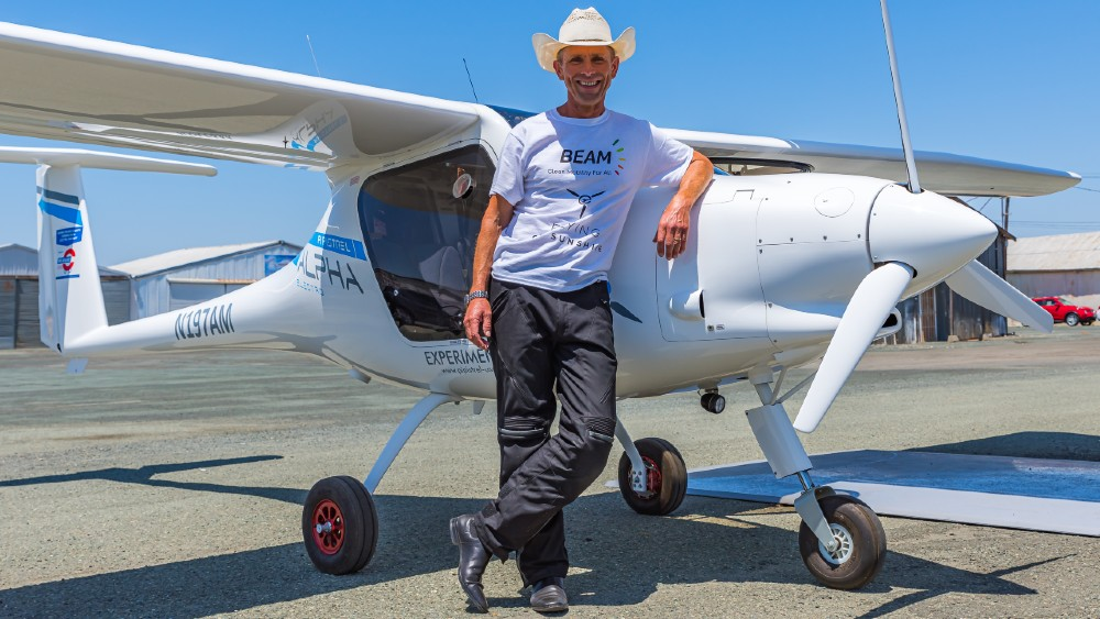 This Pipistrel electric aircraft made its first flight on solar power