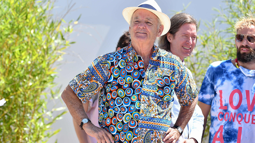 Bill Murray wears a Timex Easy Reader and Cartier Tank Solo at the Cannes Film Festival