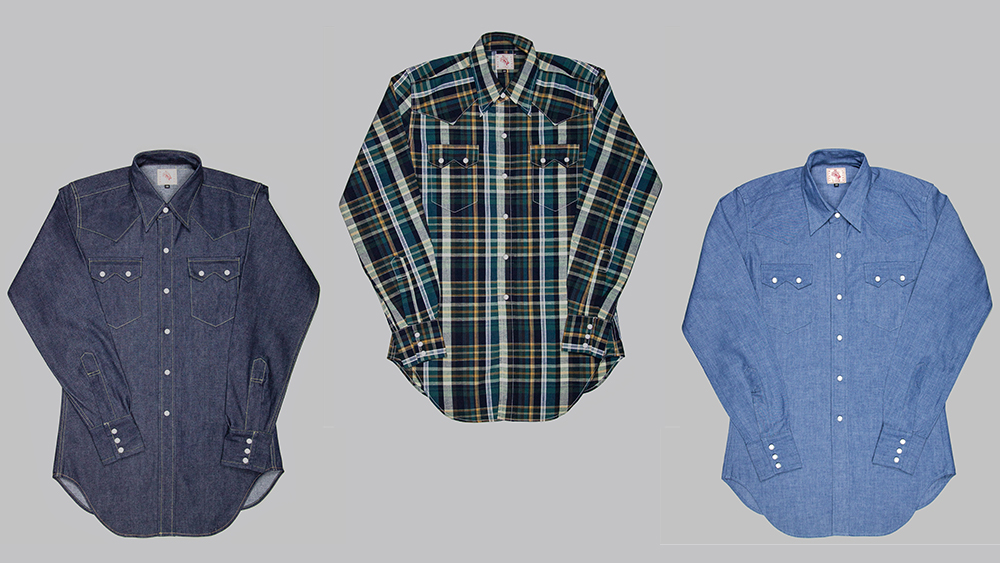 The Sawtooth Westerner is available in numerous fabrics, from raw indigo denim to madras checks.