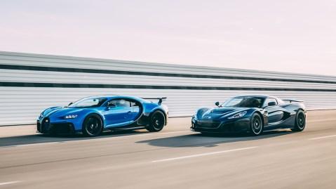 Bugatti Chiron and Rimac Nevera
