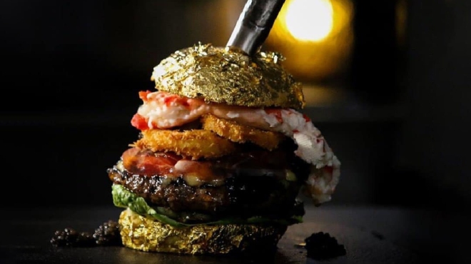 """""""The Golden Boy"""" Burger"""