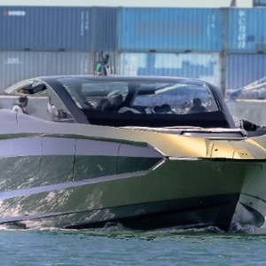 Conor McGregor just took delivery of one of Tecnomar's Lamborghini 63 yachts