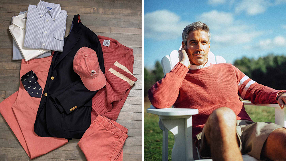 A selection of pieces from J. Press's collaboration with Murray's Toggery Shop.
