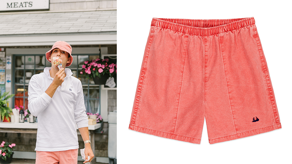 Rowing Blazers x Murray's Toggery Shop NAntucket Red canvas gym shorts ($68).