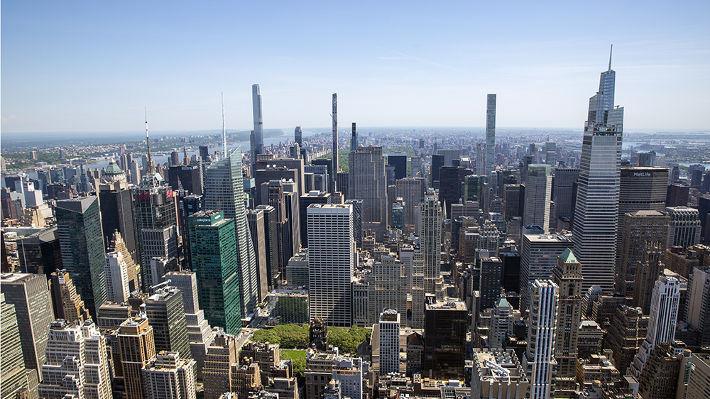 A view of uptown Manhattan from the Empire State Building is seen in New York City on Tuesday, May 18, 2021. (AP Photo/Ted Shaffrey)