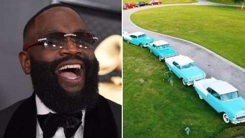 Rick Ross and his car collection