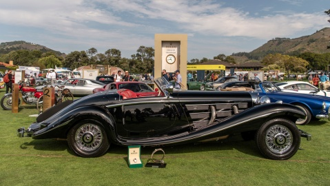 The 1938 Mercedes-Benz 540K crowned Best of Show at the Quail, a Motorsports Gathering for 2021.