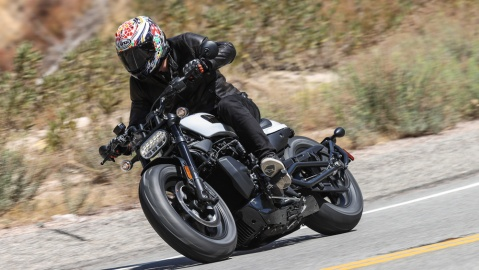 Riding the 2021 Harley-Davidson Sportster S motorcycle.