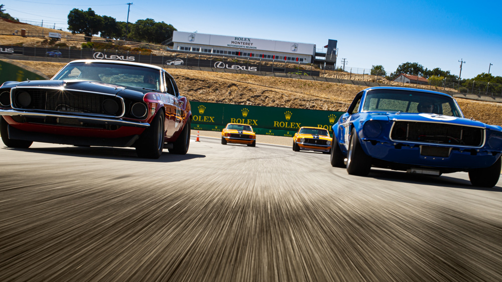 A tribute to Ford and its victories in the Trans-Am Series at the 2021 Rolex Monterey Motorsports Reunion.