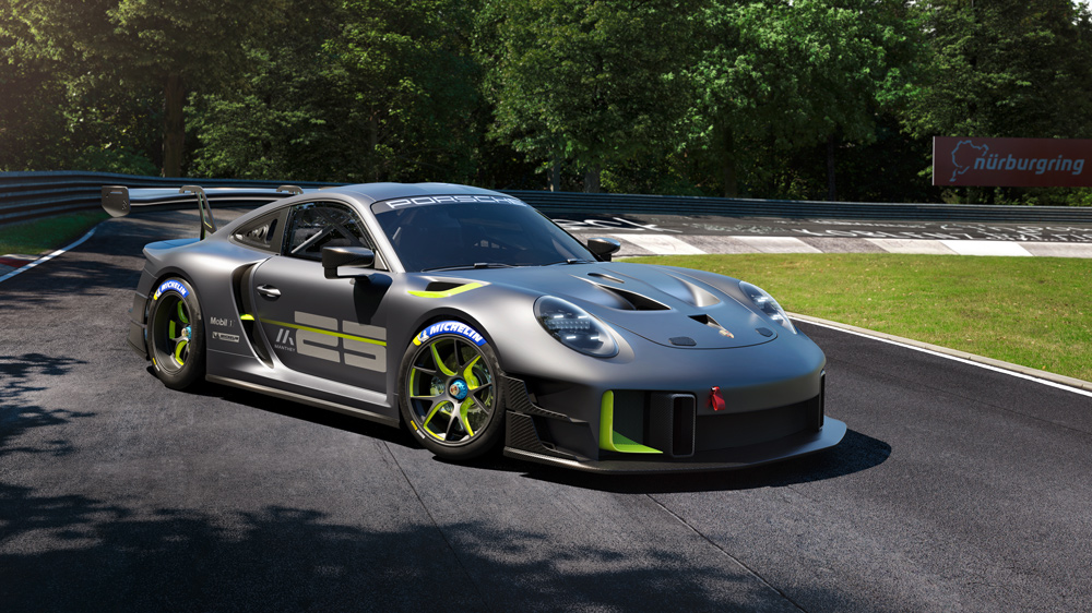 The Porsche 911 GT2 RS Clubsport 25, a track-only race car.
