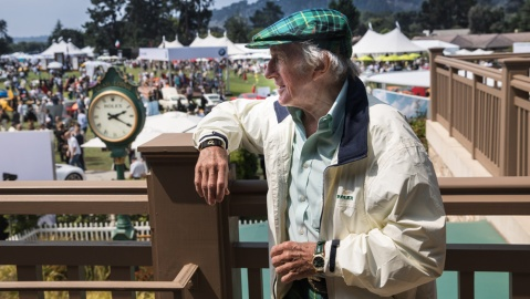 Sir Jackie Stewart, former racer and current Rolex Testimonee, at the Quail, A Motorsports Gathering.