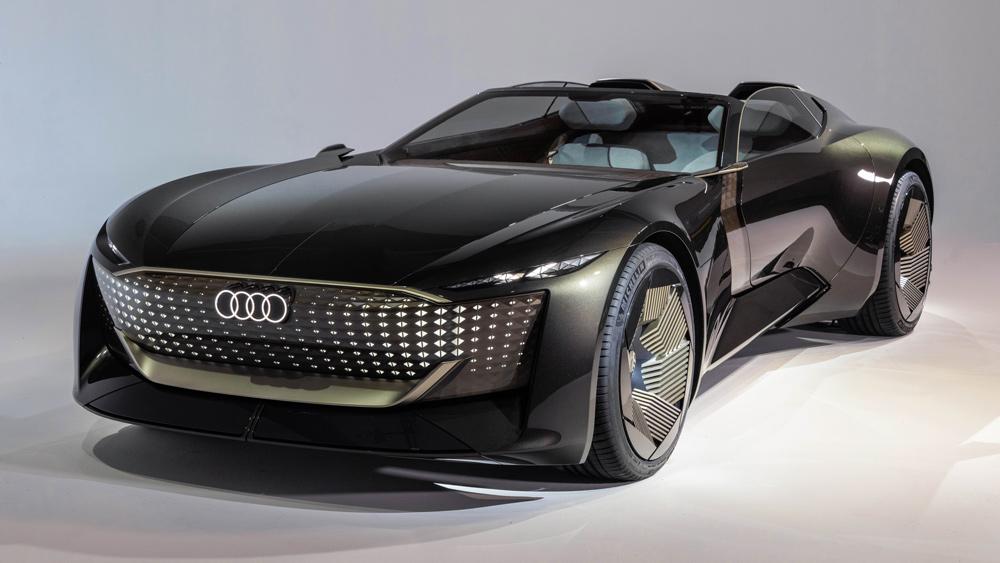 The Audi Skysphere concept car.