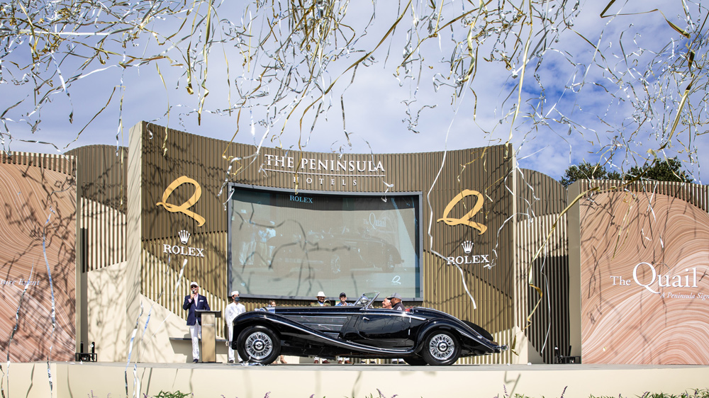 The 1938 Mercedes-Benz 540K Special Roadster that won 2021 Best of Show at the Quail, A Motorsports Gathering.