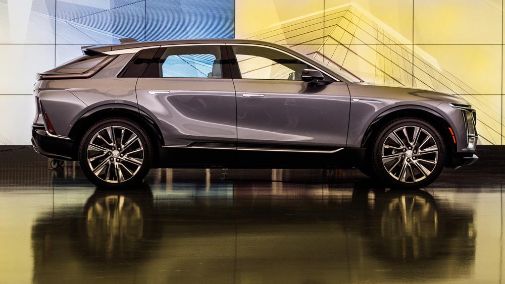 The all-electric 2023 Cadillac Lyriq crossover.