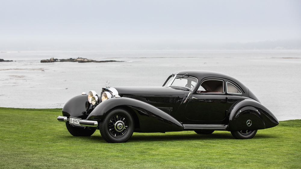 The 1938 Mercedes-Benz 540K Autobahn Kurier was named Best of Show at the 2021 Pebble Beach Concours d'Elegance.