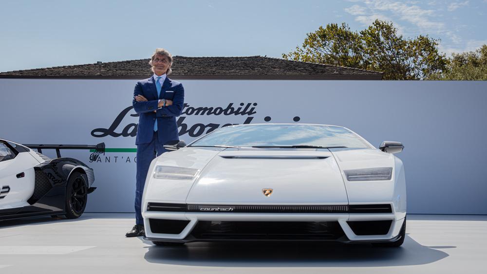 Stephan Winkelmann, president and CEO of Automobili Lamborghini, debuts the Countach LPI 800-4.