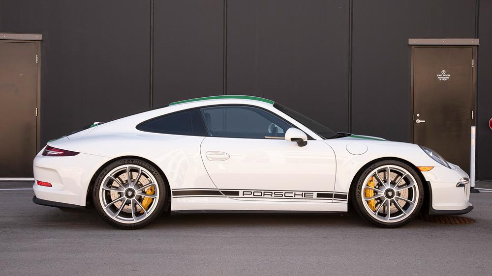 A 2016 Porsche 911 R.