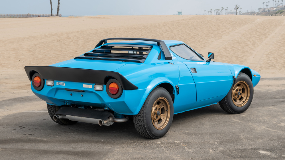 A 1975 Lancia Stratos HF Stradale rally car.