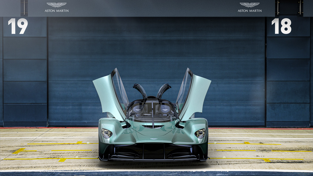 Aston Martin's Valkyrie Spider hypercar.