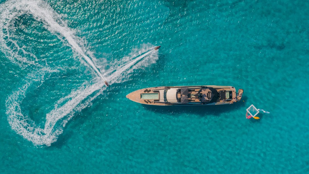 This 171-foot Palmer Johnson superyacht named DB9 is one of the brand's most famous builds.