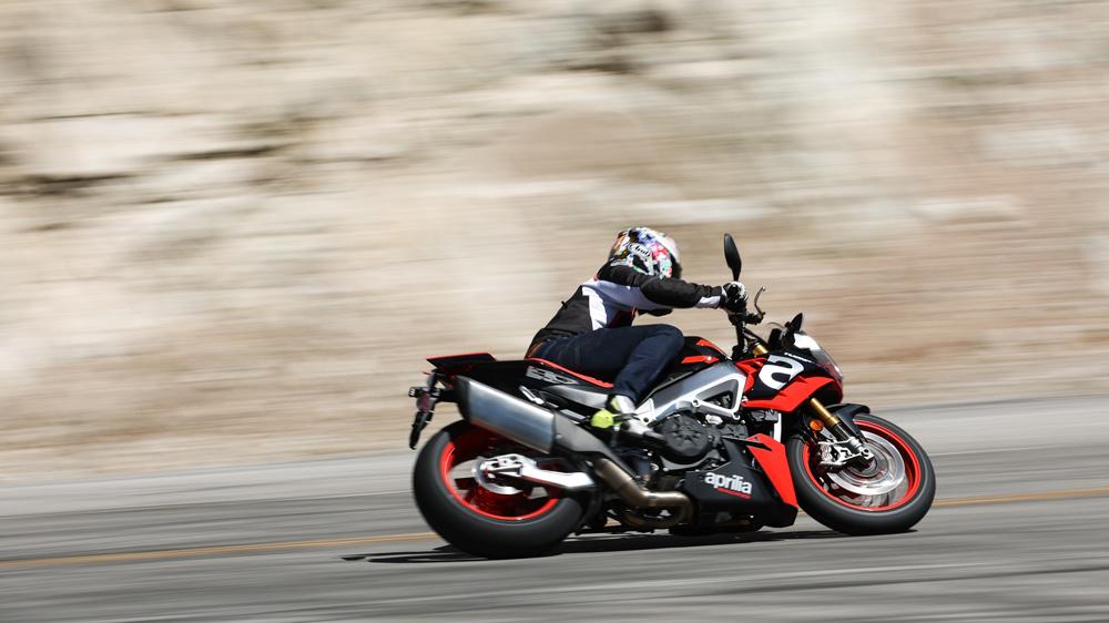 Riding the 2021 Aprilia Tuono V4 Factory motorcycle