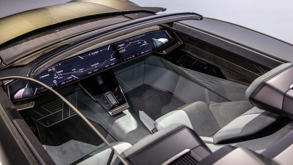 A look inside the Audi Skysphere concept car.