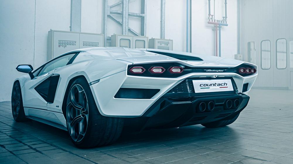 The Lamborghini Countach LPI 800-4 supercar.