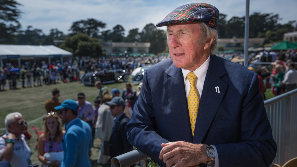 Sir Jackie Stewart, former racer and current Rolex Testimonee, at the Pebble Beach Concours d'Elegance.