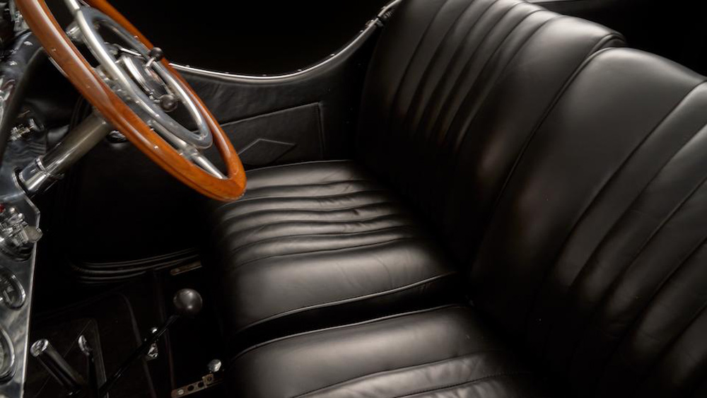 The interior of a 1928 Mercedes-Benz 26/120/180 S-Type Supercharged Sports Tourer.