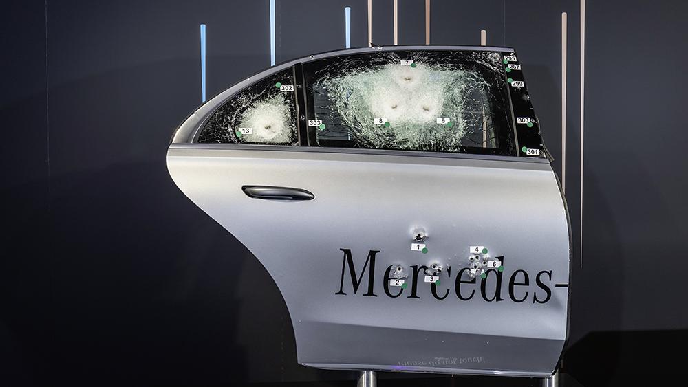 Mercedes-Benz S 680 GUARD 4MATIC (Kraftstoffverbrauch kombiniert (NEFZ): xx,x l/100 km; CO2-Emissionen kombiniert (NEFZ): xxx g/km); Exterieur: onyxschwarz metallic; Interieur: Leder Exclusiv sienabraun/schwarz // Mercedes-Benz S 680 GUARD 4MATIC (combined fuel consumption (NEDC): xx.x l/100 km; combined CO2 emissions (NEDC): xxx g/km; exterior: onyx black metallic; interior: Leather exclusive siena brown/black