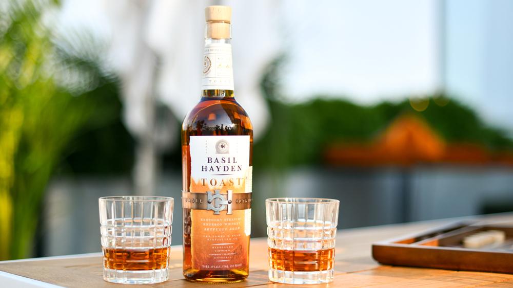 Basil Hayden bourbon whiskey tumblers