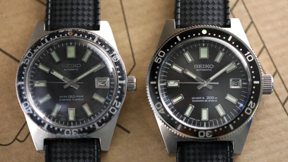 Jarrod Cooper's vintage Seiko '62MAS' Ref. 6217-8000 and his Seiko '62MAS' Ref. 6217-8000 2017 reissue