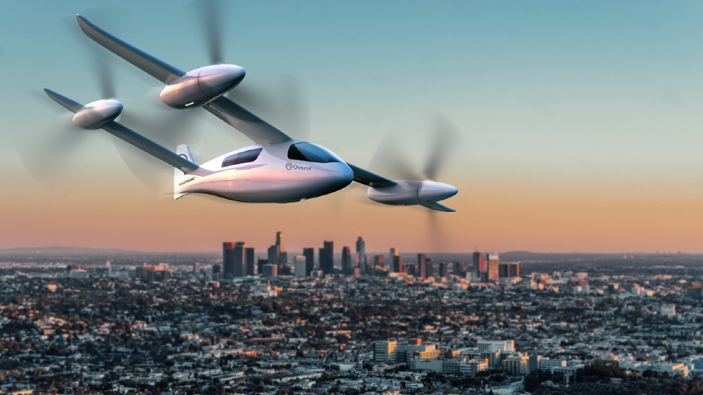 """Overair's eVTOL is called the """"Butterfly"""" because it has unusually large propulsors"""