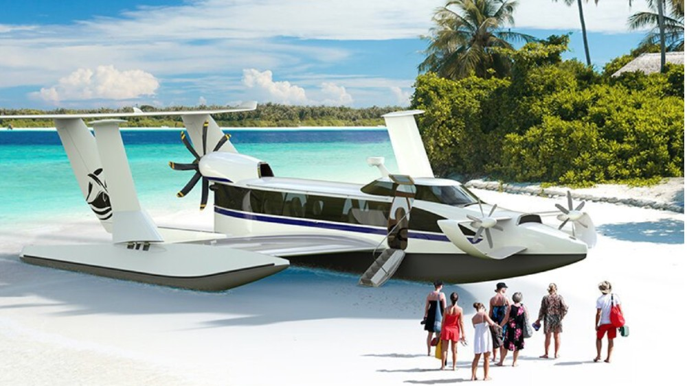 The E-15 is an amphibious aircraft and boat that uses ground effect to fly.