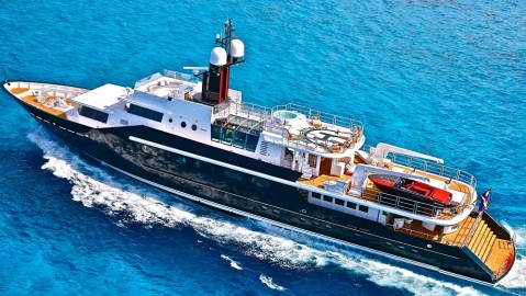 The Iconic 164-foot Highlander was owned by Malcom Forbes but has undergone a complete refit