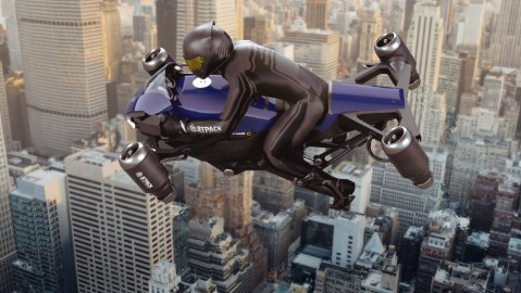 The Speeder is a new jet-powered motorcycle that flies above the air at 250 mph