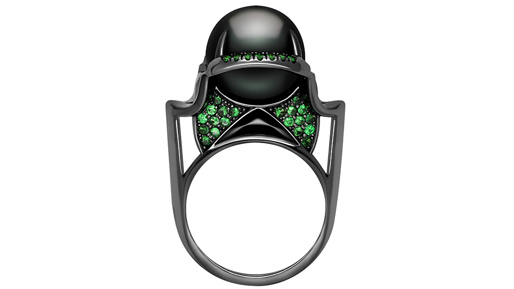 The Isis Goddess Pearl Ring by Angie Marei