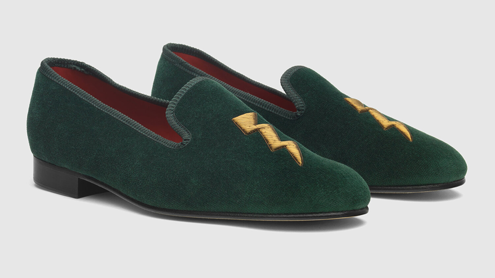 F.E. Castleberry's cheeky take on traditional Prince Albert slippers.