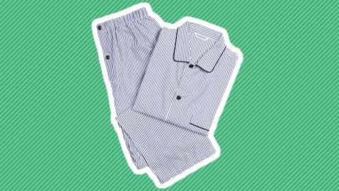 Schostal striped pajamas.